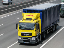 DHL lorry Stock Photos