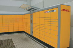 DHL Packstation Royalty Free Stock Images