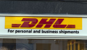 DHL for personel and business shipments Royalty Free Stock Photos