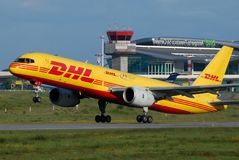 DHL Plane stock images