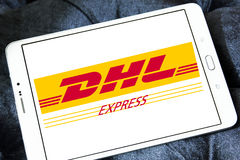 Dhl postal shipping logo Royalty Free Stock Photography