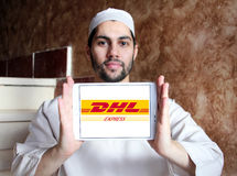 Dhl postal shipping logo Royalty Free Stock Images