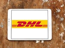 DHL-Postversandlogo Stockbild