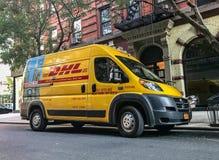 DHL samochód dostawczy Obrazy Stock
