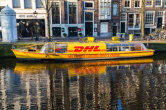 DHL Service Center Boat Stock Image