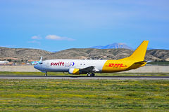 DHL Swift Air Courier Plane Royalty Free Stock Photo