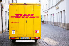 DHL truck Stock Images