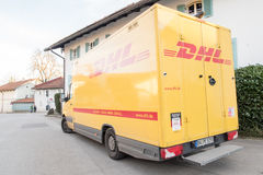 DHL truck Stock Photography