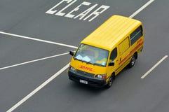 DHL Uitdrukkelijk voertuig royalty-vrije stock foto's