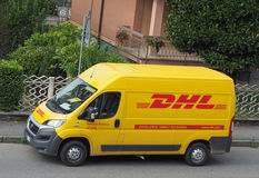 DHL van Stock Photo