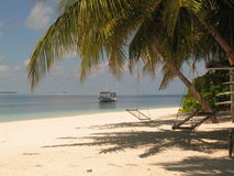 dhoani海岛 免版税库存照片