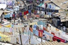dhobhi ghat洗衣店排行模式洗涤 库存图片