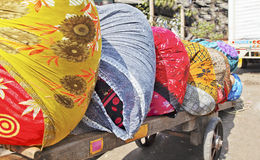 Dhobhi Ghat Mumbai colors wheelcart Royalty Free Stock Photos