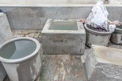 Dhobi Gana è una lavanderia automatica ben nota dell'aria aperta in Chennai India fotografie stock libere da diritti