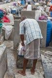 Dhobi Gana est une laverie automatique bien connue d'air ouvert dans l'Inde de Chennai image stock