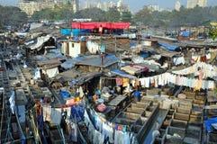 Dhobi Ghat dans Mumbai, Inde. Images libres de droits
