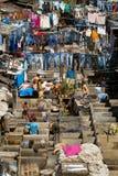 Dhobi Ghat, die größte Wäscherei der Welt im Freien Stockfotografie