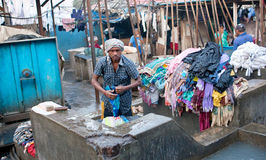 Dhobi Ghat en Bombay, maharashtra, la India Imagen de archivo libre de regalías