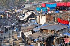 Dhobi Ghat en Mumbai, la India. Foto de archivo