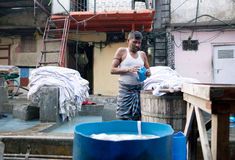 Dhobi Ghat en Mumbai, la India Imagenes de archivo