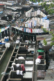 Dhobi Ghat Laundry. People at Dhobi Ghat, the world's largest outdoor laundry on June 24, 2010 in Mumbai, India Royalty Free Stock Image