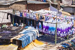 Dhobi Ghat, Mumbai. Dhobi Ghat is a well known open air laundromat in Mumbai, India Stock Image