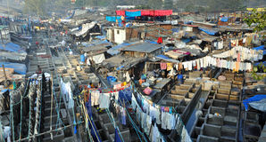 Dhobi Ghat in Mumbai, India. Stock Afbeelding