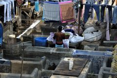 Dhobi Ghat Mumbai Royalty Free Stock Photos