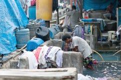 Dhobi Ghat in Mumbai, Maharashtra, India Stock Photos