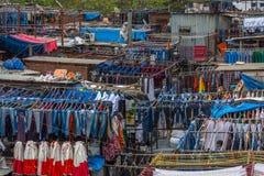 Dhobi Ghat Mumbai tvätteri royaltyfria foton