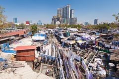 Dhobi Ghat, Mumbai. Dhobi Ghat is a well known open air laundromat in Mumbai, India Royalty Free Stock Photo