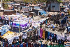 Dhobi Ghat, Mumbai. Dhobi Ghat is a well known open air laundromat in Mumbai, India Royalty Free Stock Photos