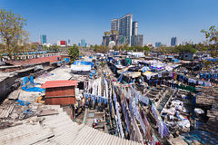 Dhobi Ghat, Mumbai. Dhobi Ghat is a well known open air laundromat in Mumbai, India Royalty Free Stock Photography