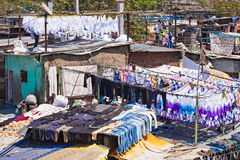 Dhobi Ghat, Mumbai. Dhobi Ghat is a well known open air laundromat in Mumbai, India Stock Photography