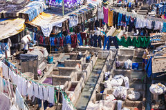 Dhobi Ghat, Mumbai. Dhobi Ghat is a well known open air laundromat in Mumbai, India Stock Photo