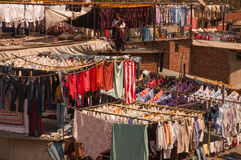 Dhobi Ghat. Is an open air laundromat in Mumbai. Only men work here.They work as father-son teams, sifting through hundreds of clothes to make anywhere from 500 Stock Image