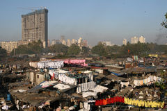Dhobi Ghats, Mumbai. Dhobi Ghats is the biggest laundry washing place in Mumbai, India Royalty Free Stock Photos