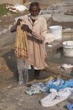 Dhobi Wallah at work Stock Photo