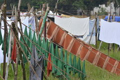 Dhobi washing spot. Kochi, India - November 1, 2015 - Open air laundromat Dhobi Ghat in Kochi, South India Stock Images