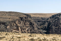 Dhofar Mountains grand canyon Oman salalah Arabic jeep safari Stock Photo