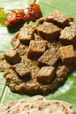 Dhokar Dalna a recipe made of bengal gram Stock Images