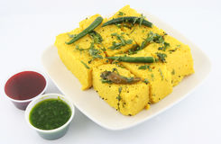 Dhokla Foto de Stock Royalty Free