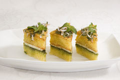 Dhokla with Chees Stock Image