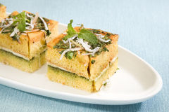 Dhokla with Chees Stock Photos