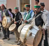 Dhol φολκλορικής μουσικής Himachali Στοκ φωτογραφία με δικαίωμα ελεύθερης χρήσης
