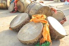 Dhol - барабанчики himachali Стоковые Изображения RF