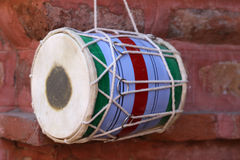 Dhol del instrumento musical Fotografía de archivo