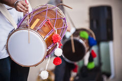 Dhol. Is a double headed drum usually played in the Punjab or Tamil traditional ceremony Royalty Free Stock Image
