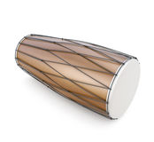 Dholak on a white Royalty Free Stock Image