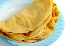 Dholl puri. A pair of folded Mauritian dholl puri Royalty Free Stock Photo